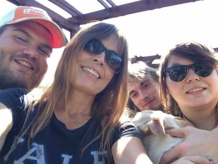 Candace with friends