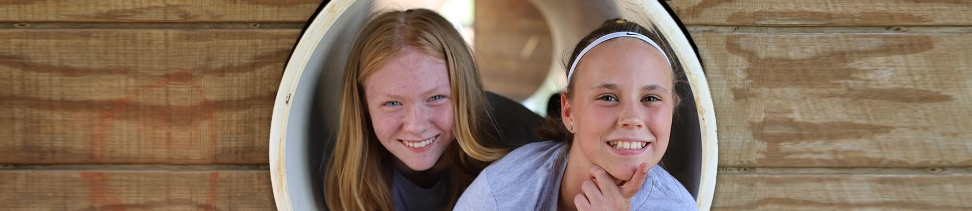 two girls at playground