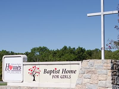 sign at Baptist Home for Girls
