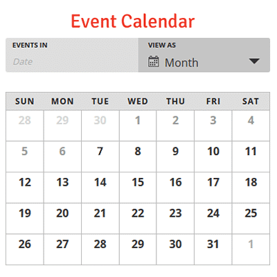 See our event calendar.