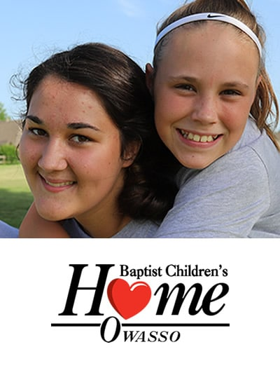 Two girls and Baptist Children's Home, Owasso