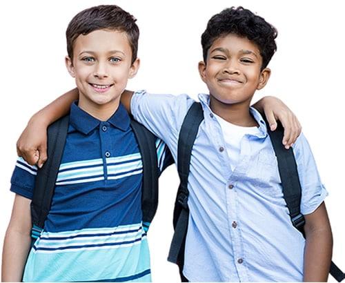 Two school buddies