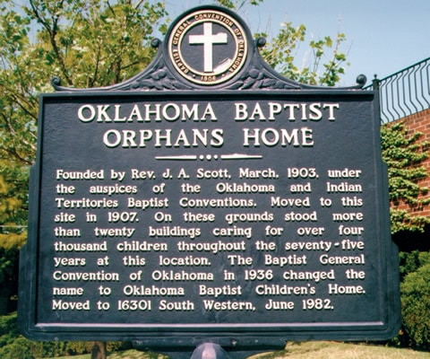 Orphans Home sign