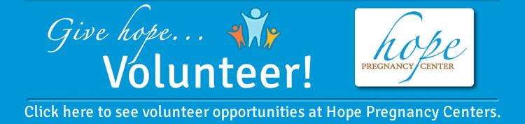 Volunteer opportunities at Hope