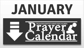 January Prayer Calendar