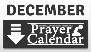 December Prayer Calendar