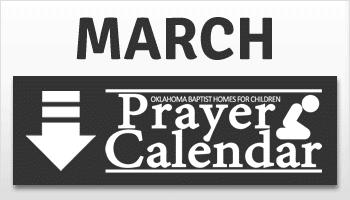 March Prayer Calendar