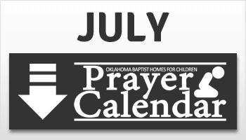 July Prayer Calendar