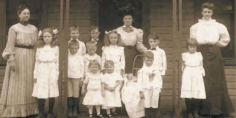 Miss Winnie Mitchell and Others at First House