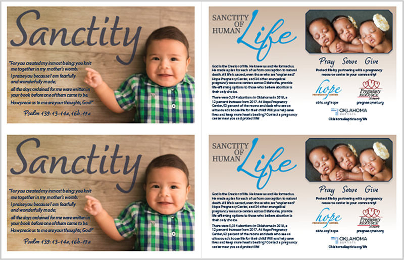 Download bulletin inserts for Sanctity of Human Life Sunday
