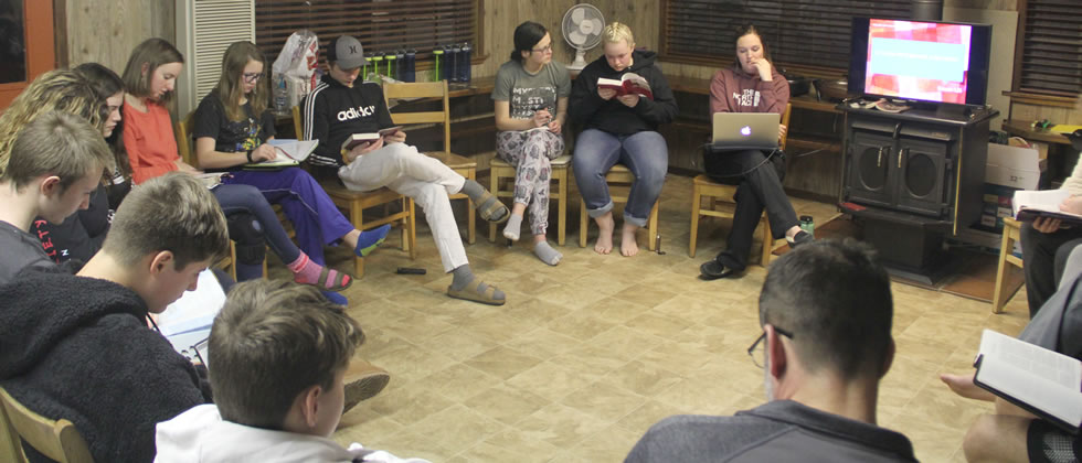 Bible study during the Triple C Retreat