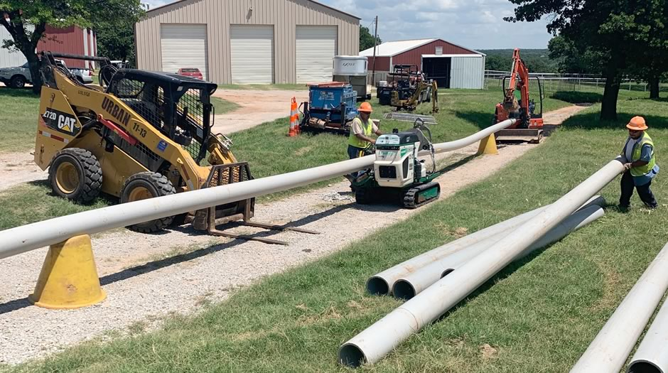 Contractors replaced sewage lines at Boys Ranch Town
