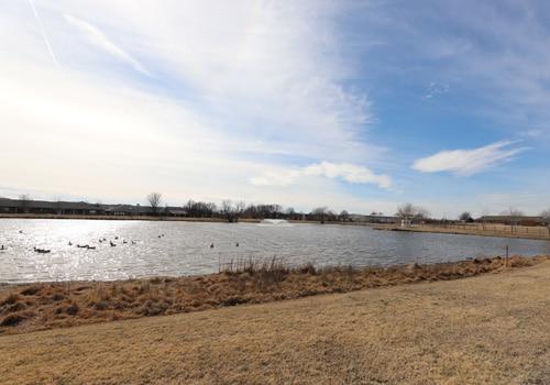 Owasso campus pond