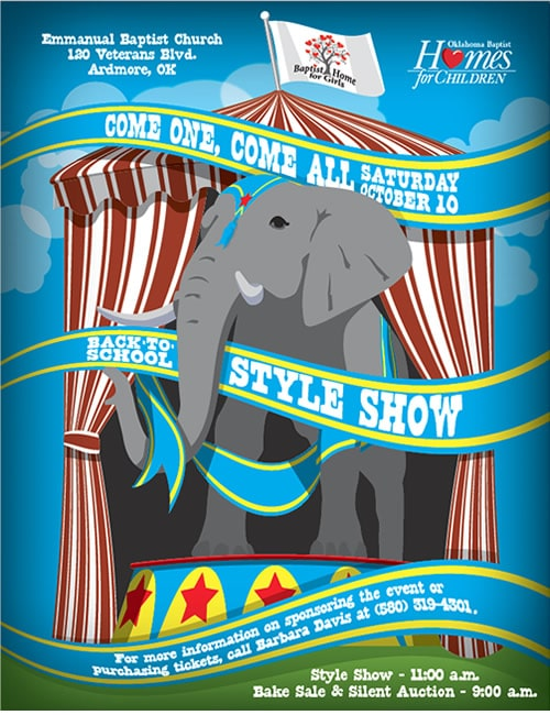 Baptist Home for Girls Back-to-School Style Show Poster