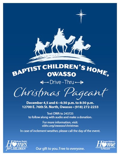 Owasso Christmas Pageant Flyer