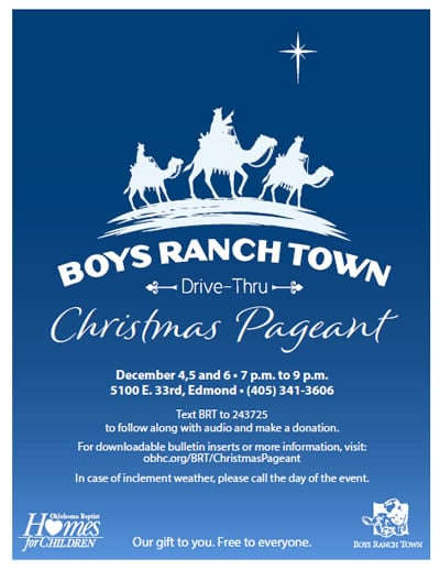 Boys Ranch Town Christmas Pageant Flyer