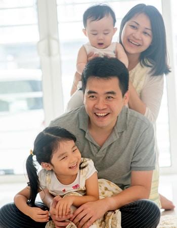 John, Christina and family