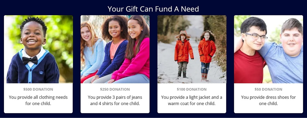 Your Gift Can Fund a Need