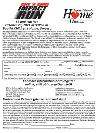 Owasso 2021 Impact Run Registration Form